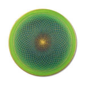 Wandbild Energiebild Energiefeld des Herzens Torus Gold grün Frontalbild