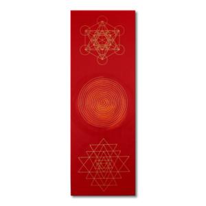 Wandbild Energiebild Weisheit und Wohlstand Sri Yantra Gold Spirale Frontalbild